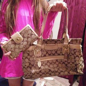 Coach Handbag With Wallet Combo!